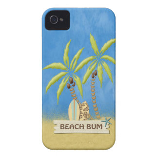 Palm Trees & Surf Boards iPhone 4 Case-Mate Cases