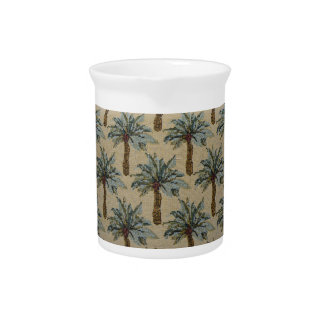 Palm Trees Tapestry Texture Look Drink Pitcher