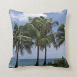 Palm Trees tropical decorative throw pillow