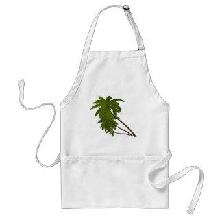 Palm Trees Tropical Hawaiian Theme White Trendy Adult Apron
