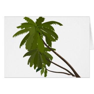 Palm Trees Tropical Hawaiian Theme White Trendy Card