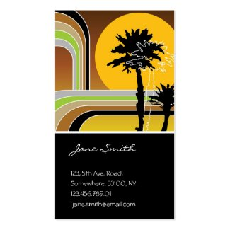 fatfatin Retro Stripes Tropical Profile Card profilecard
