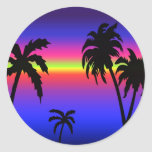 Palm Trees Tropical Sunset Sticker