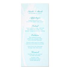 "Palm Trees Tropical Wedding Menu Cards 4"" X 9.25"" Invitation Card at Zazzle"