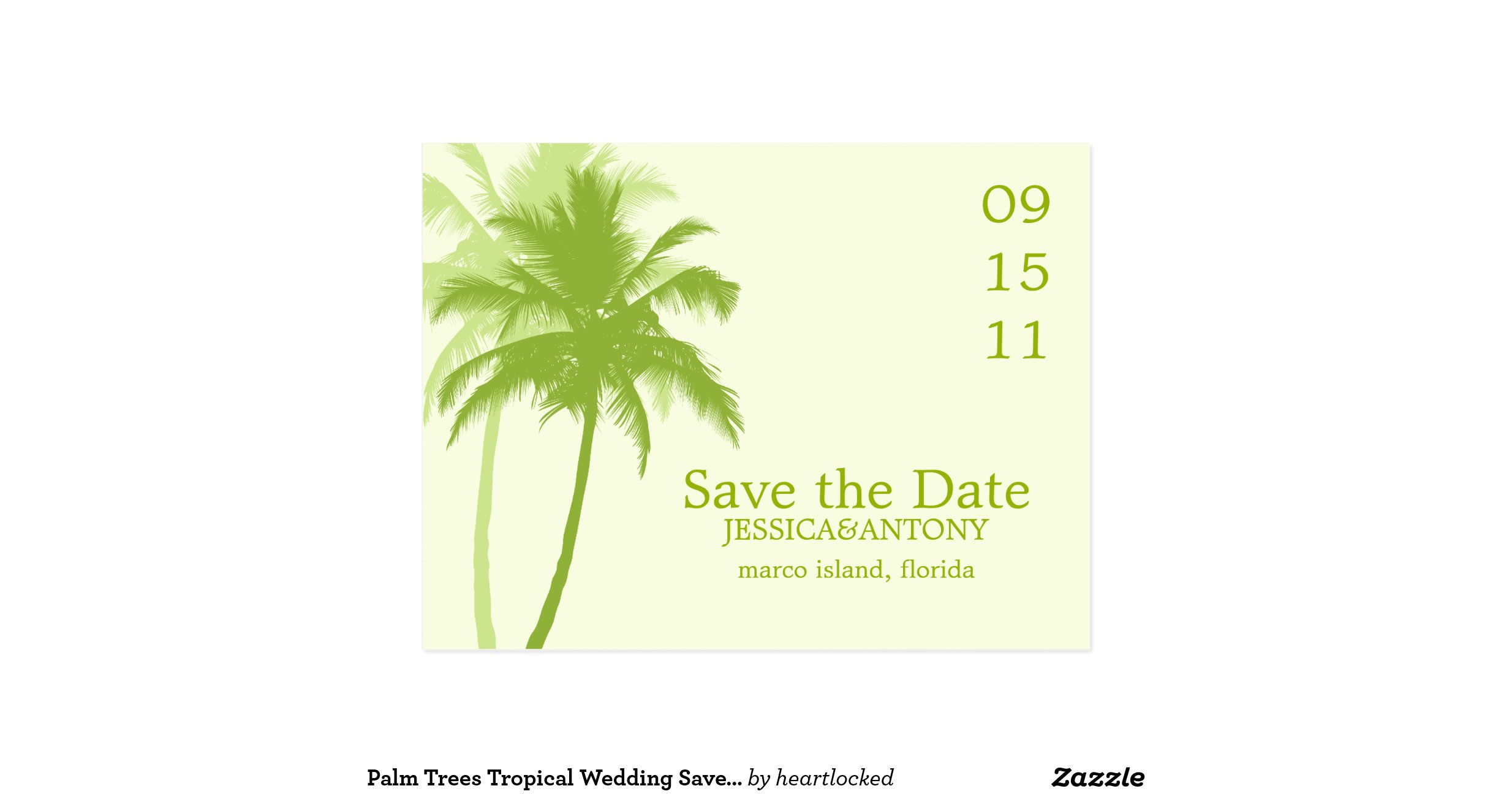 Palm trees tropical wedding save the date postcard r435359f98d884c0884a4feb4d152aaf2 vgbaq 8byvr - Tell tree dying order save ...