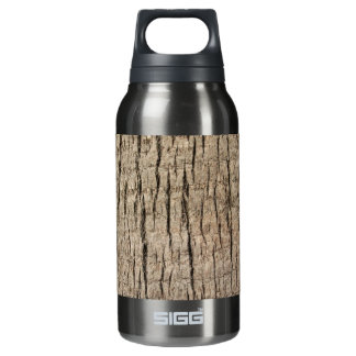 Palm tree's trunk texture insulated water bottle