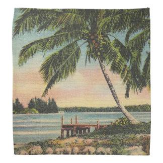 palm trees vintage bandana