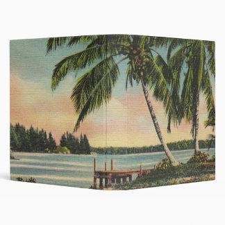 palm trees vintage binders