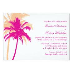 Palm Trees Wedding 5x7 Paper Invitation Card at Zazzle
