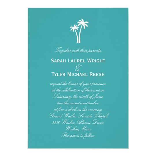 Palm Trees Wedding Invitation