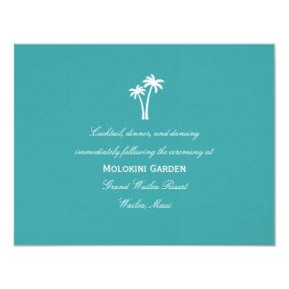 Palm Trees Wedding Reception Card