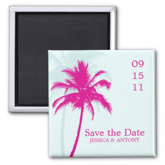 Palm Trees Wedding Save the Date or Favor Magnet