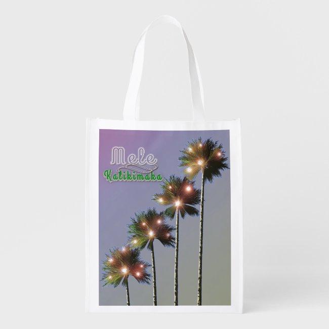 Palm Trees With Lights Mele Kalikimaka
