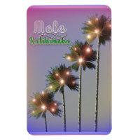 Palm Trees With Lights Mele Kalikimaka Magnet