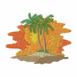 Palm Trees with Sunset Embroidered Hoody
