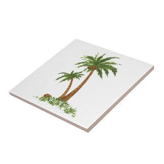 "Palm TreeTile 4.25x4.25"" Tile"