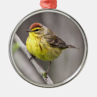 Palm Warbler Christmas Ornaments