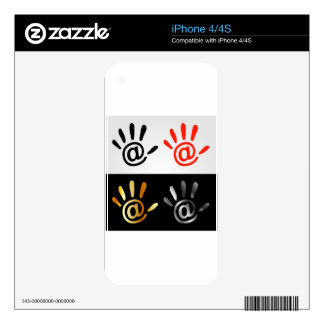 Palm with at sign iPhone 4S decal
