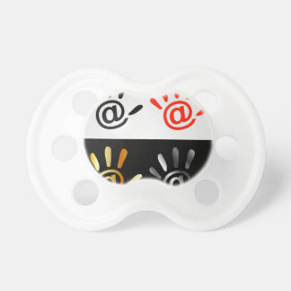 Palm with at sign pacifier