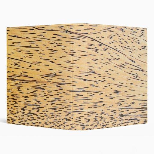 Palm-wood texture 3 ring binder