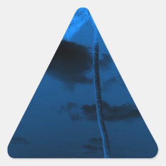 Palma azul calcomanías trianguloes
