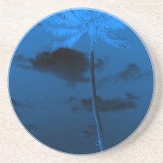Palma azul posavaso para bebida