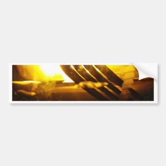 Palma bifurcada pegatina de parachoque