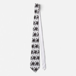 Palma blanco y negro corbata personalizada