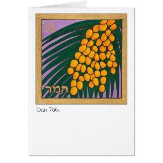 Palma datilera, una de las siete especies de tarjeta pequeña