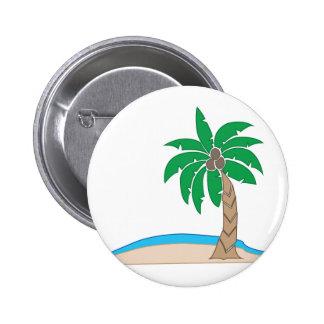Palma de coco pin redondo de 2 pulgadas