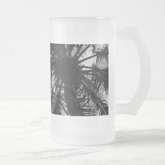 Palma de coco taza de cristal