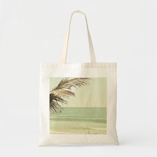 Palma de coco y fotografía en colores pastel de la bolsa tela barata