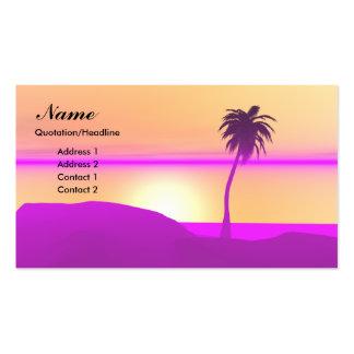Palma de la mañana - negocio tarjetas personales