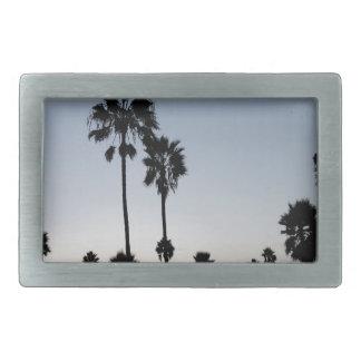 Palma de la playa de Venecia del árbol Hebillas Cinturon Rectangulares