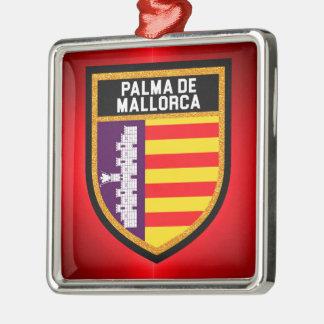 Palma de Mallorca Flag Metal Ornament