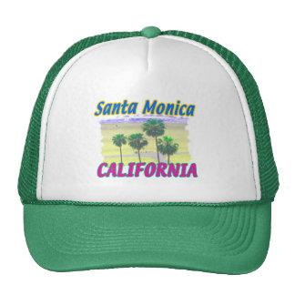 Palma de Santa Mónica California y gorra de la pla