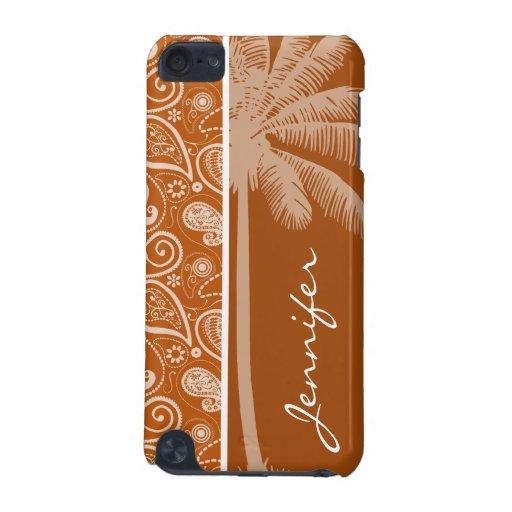 Palma del verano en Paisley anaranjada quemada; Fl Funda Para iPod Touch 5G