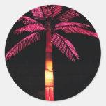 Palma eléctrica pegatina redonda
