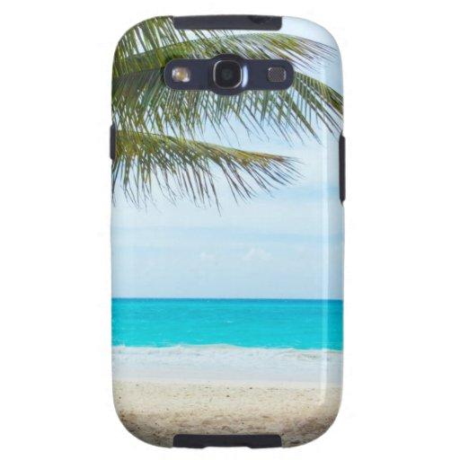 Palma en la playa galaxy s3 carcasa