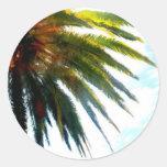 Palma Etiquetas Redondas