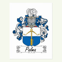 Palma Family Crest Postcard