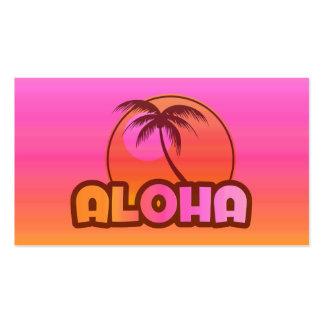 Palma rosada de la hawaiana plantilla de tarjeta personal