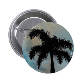 Palma Silloutte de la reina de la Florida Pin Redondo 5 Cm