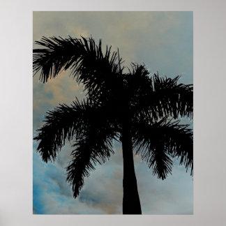 Palma Silloutte de la reina de la Florida Posters