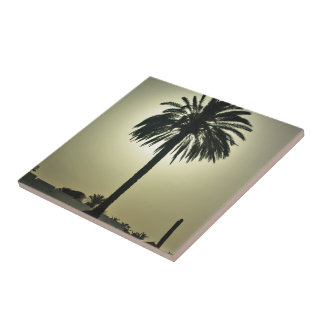 Palma soleada azulejo
