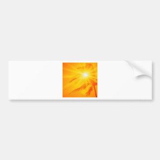 Palma soleada Hawaii del cielo Etiqueta De Parachoque