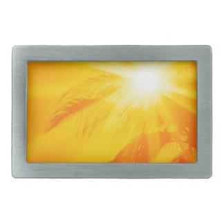 Palma soleada Hawaii del cielo Hebilla Cinturon