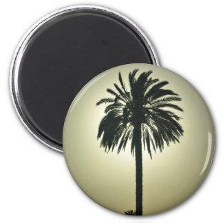 Palma soleada imán redondo 5 cm
