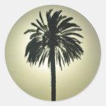 Palma soleada pegatinas redondas