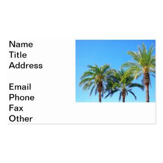 Palma triple tarjetas de visita